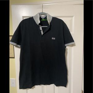 Hugo Boss designer green tag black polo XXL